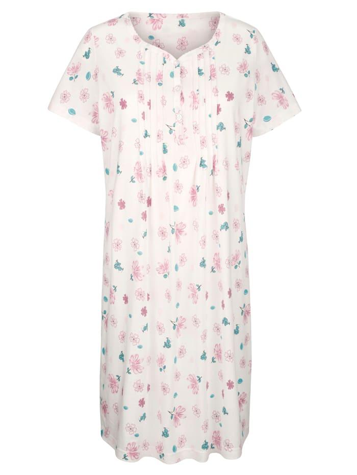 Nachthemden mit dekorativer Zackenlitze