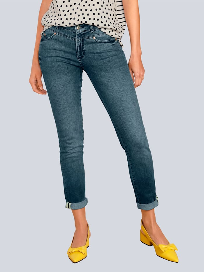 OUI Jeans in schöner Waschung, Blue stone