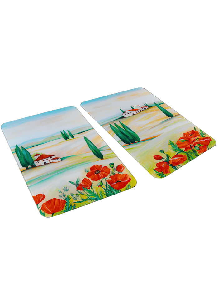 2er-Set Herdabdeckplatten 'Toscana'