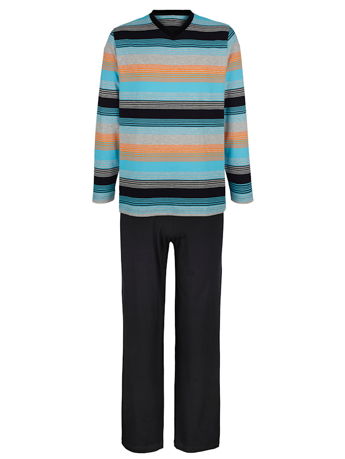 G Gregory Pyjama, Noir/Turquoise/Orange