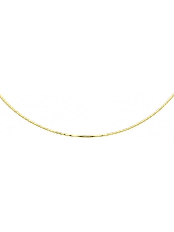 1001 Diamonds Damen Silberschmuck 925 Silber Tonda Halskette 45 cm Ø 2 mm, silber