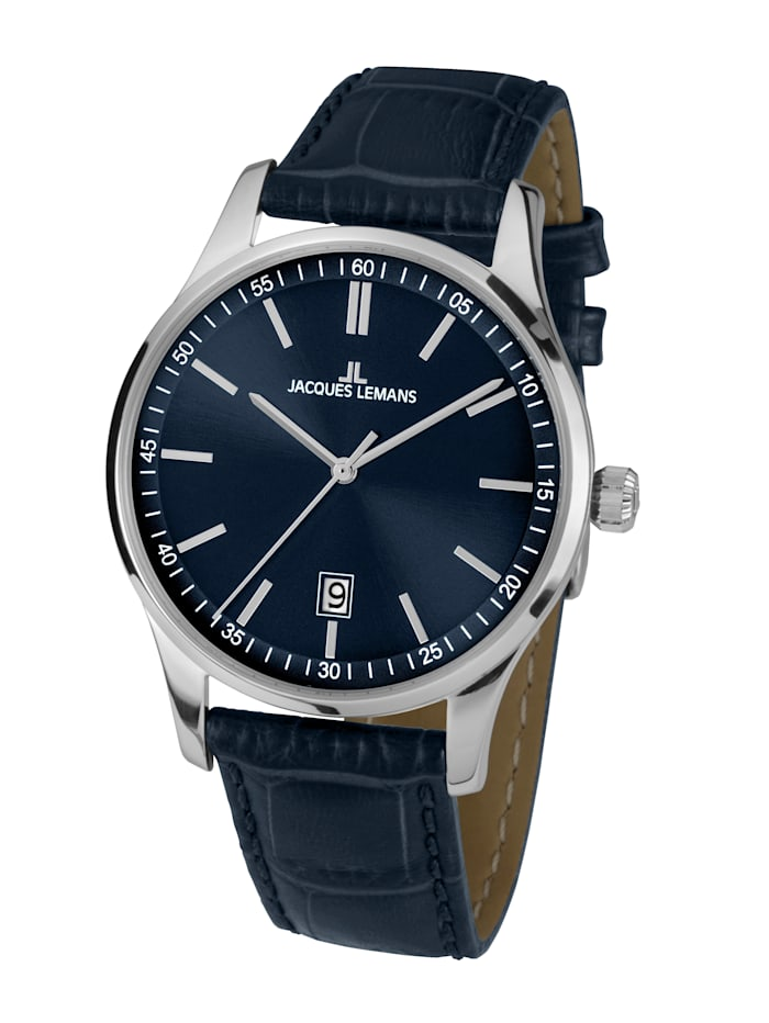 Jacques Lemans Herrenuhr Serie: London, Kollektion: Classic: 1- 2026C, Blau