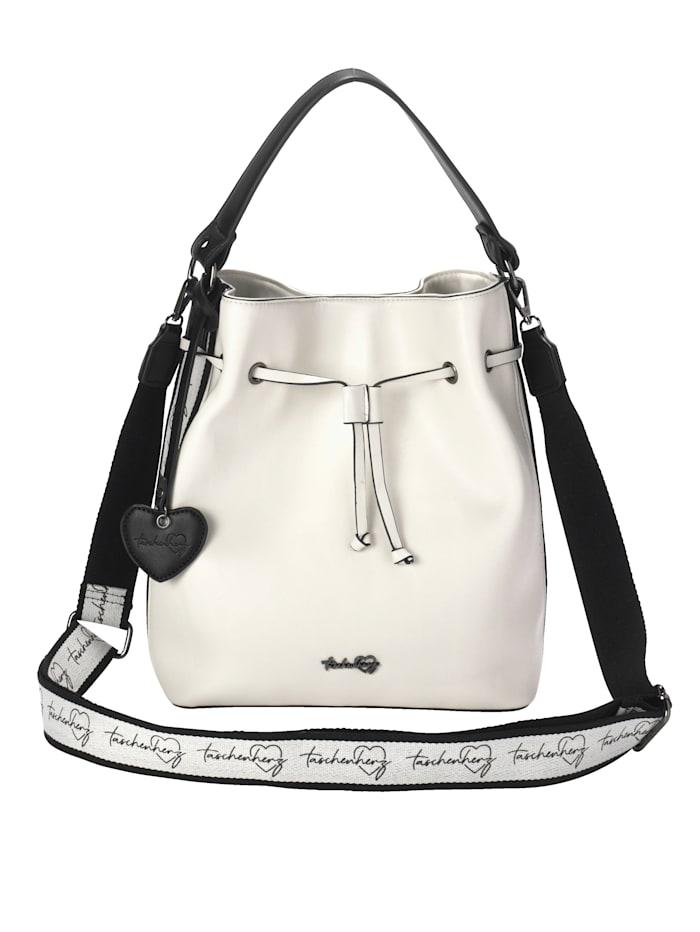Taschenherz Tas met een afneembare sierhanger, Wit