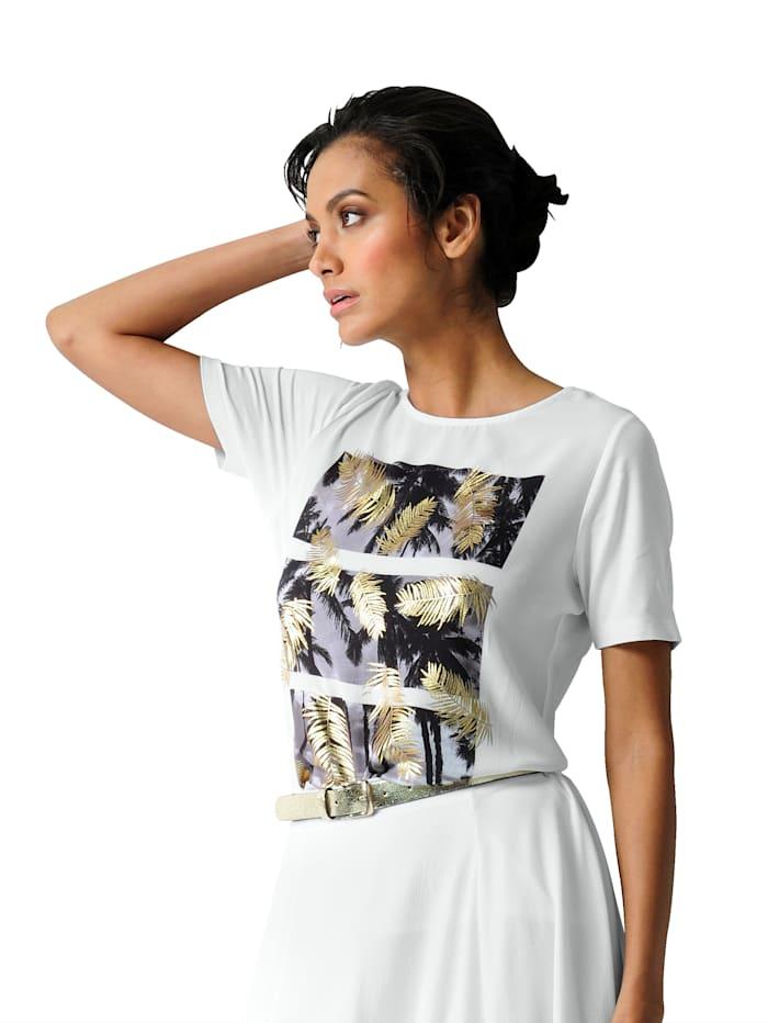 Shirt met gedessineerde weefstof voor
