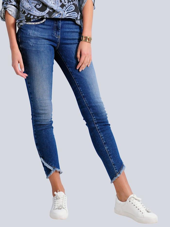 Alba Moda Jeans in Slim Fit Form, Blau