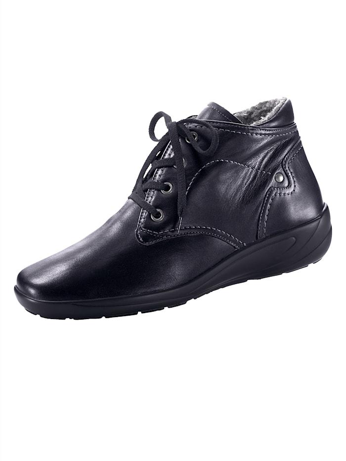 Semler Lace-Up Boots, Black