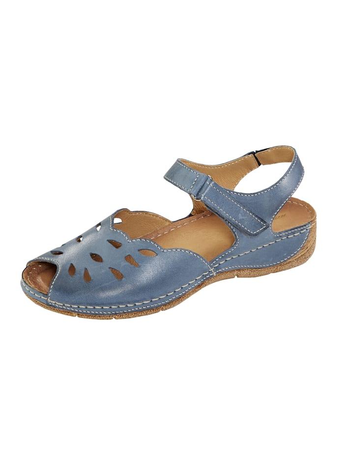 Naturläufer Slipper mit Klettverschluss, Blau