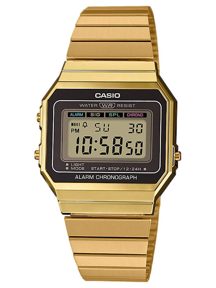 Casio Vintage Damen-Armbanduhr, Anthrazit
