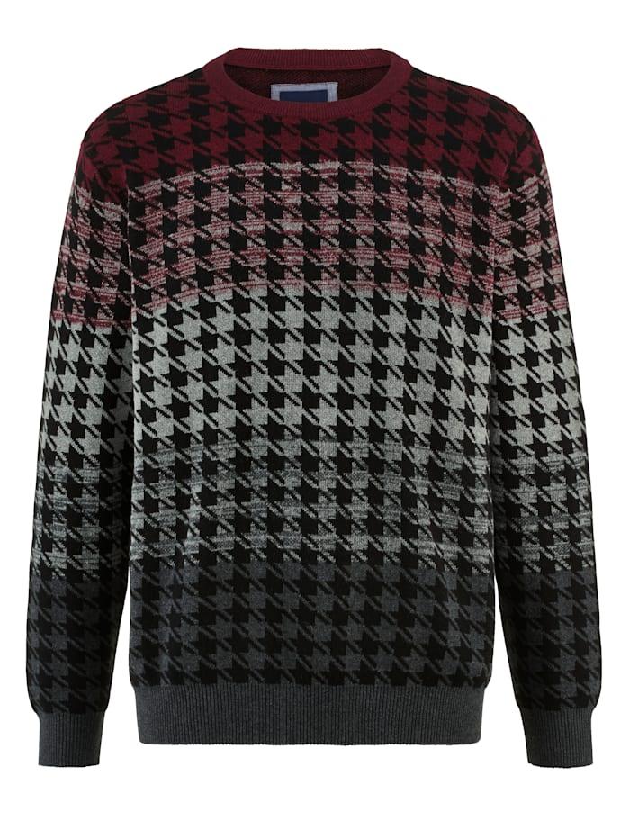 Pullover mit angesagtem Hahnentritt-Muster