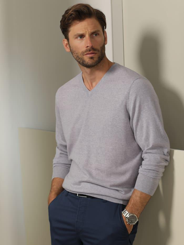 Babista Premium Pullover aus reiner Merinowolle, Grau