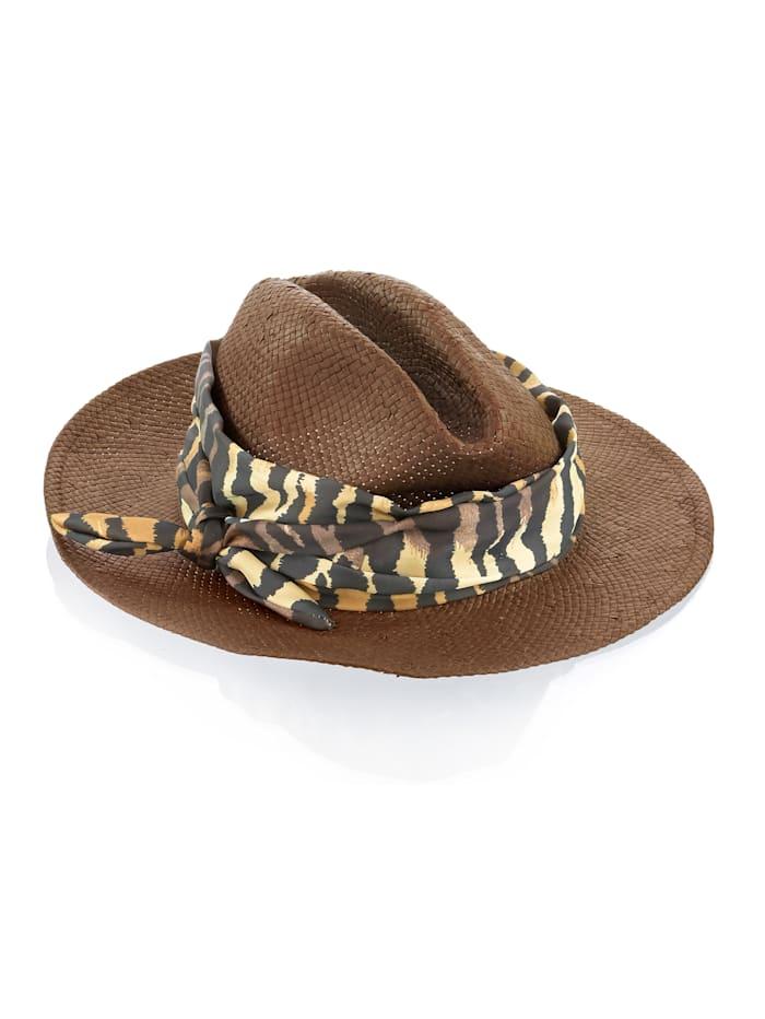 Alba Moda Hut mit Textilband, Nougat