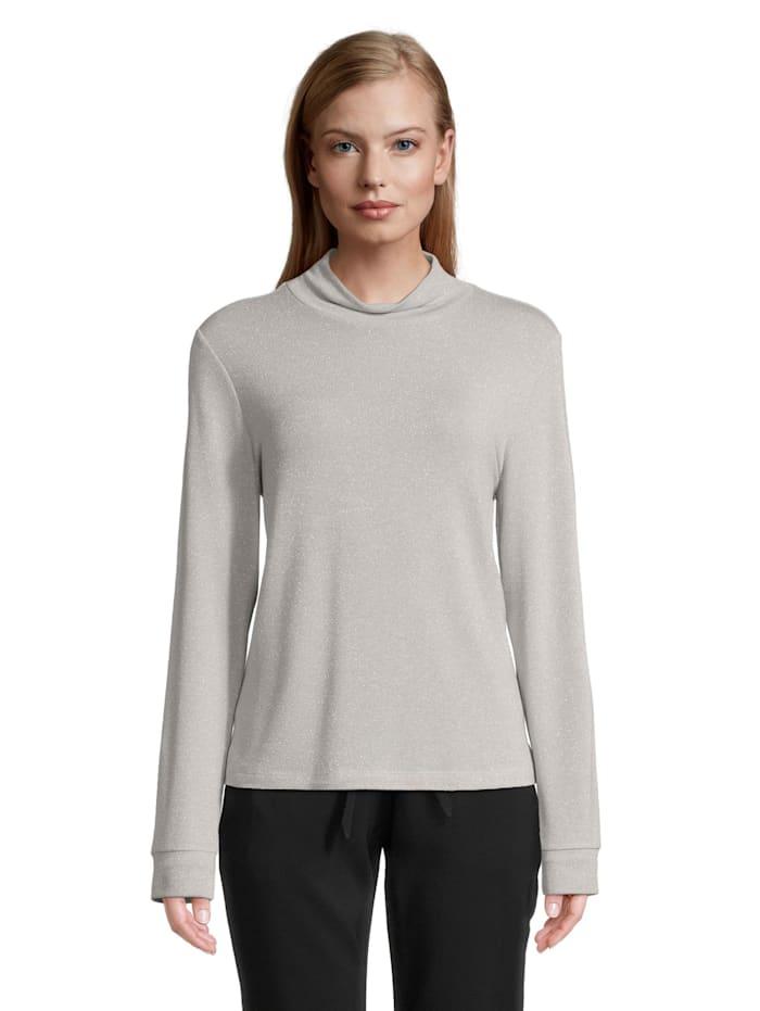 Betty & Co Langarm-Shirt im Glitzer-Look, Wind Chime