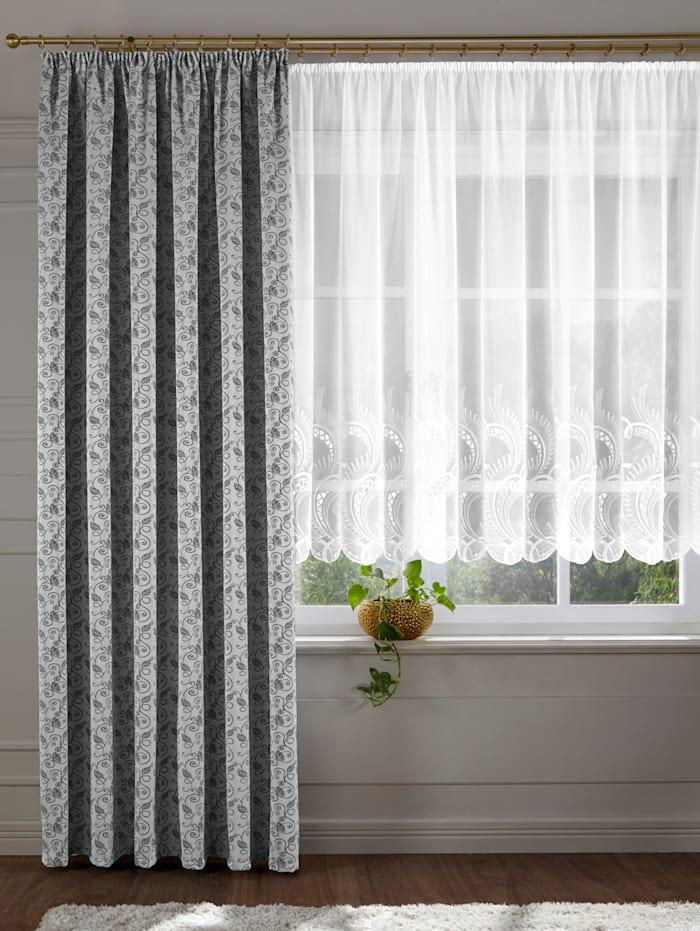 Stickereien & Textilien Vitrage Edigna, wit