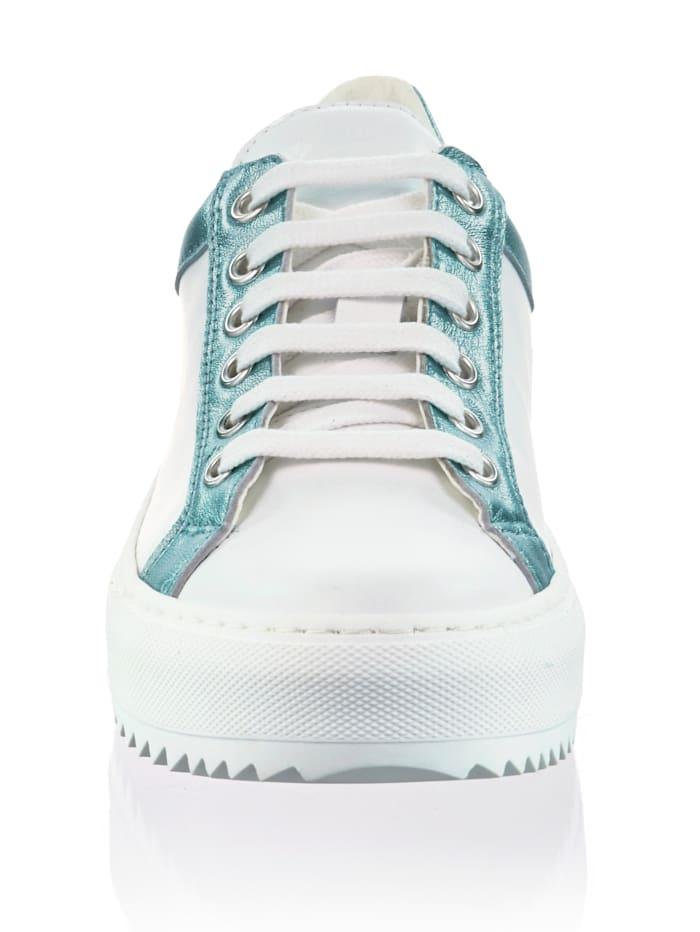 Sneaker mit metallischem Rand