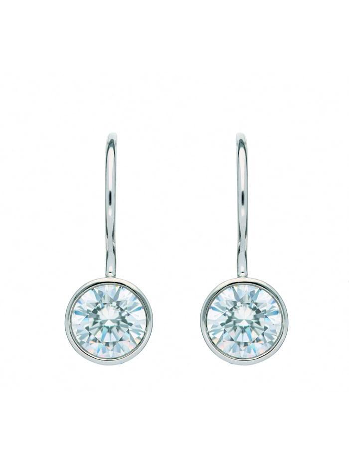 1001 Diamonds 1001 Diamonds Damen Goldschmuck 333 Weißgold Boutons mit Zirkonia Ø 6,1 mm, silber