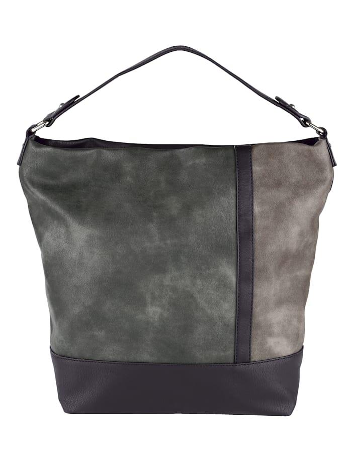 Tas in een prachtige kleurencombinatie, zwart/grijs gecombineerd