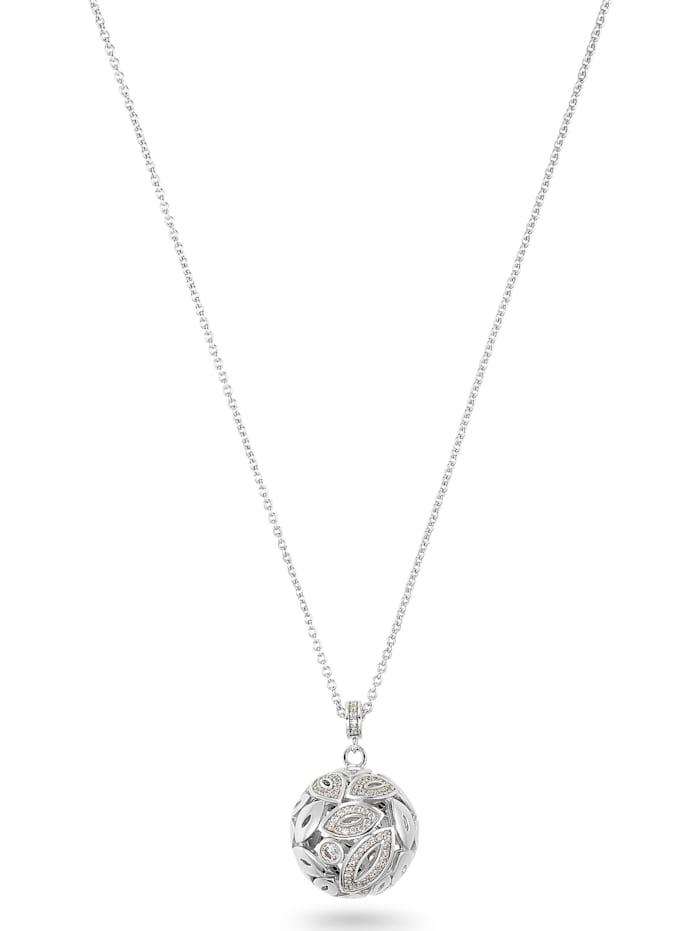 Jette JETTE Damen-Kette 925er Silber 119 Zirkonia, silber