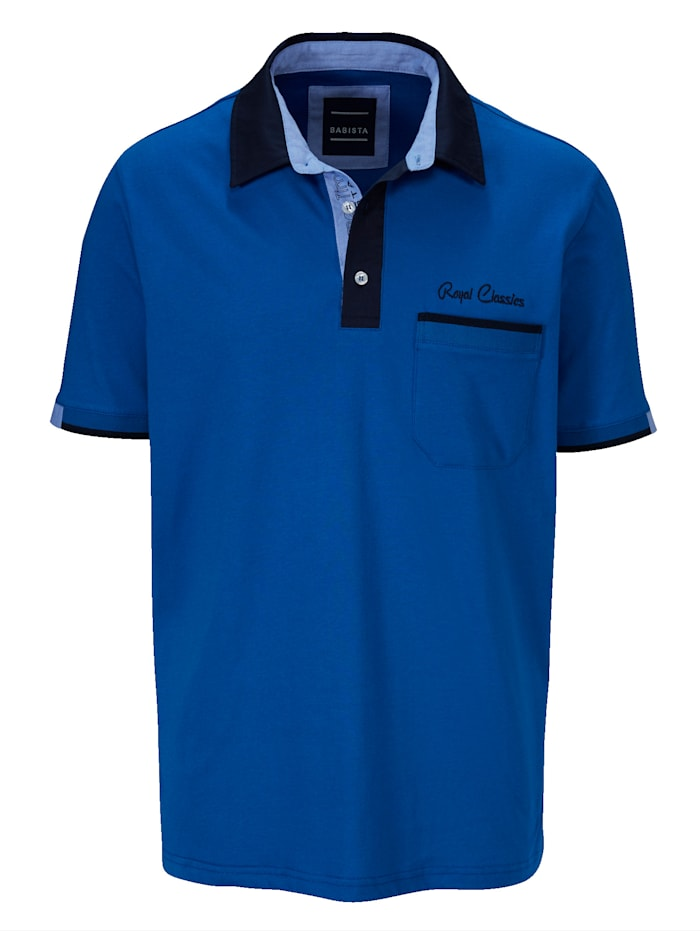 BABISTA Poloshirt met overhemdkraag, Royal blue