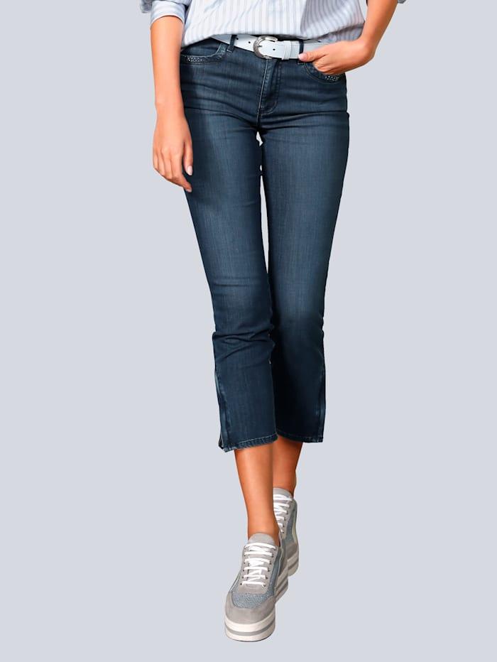 BRAX Jeans mit Hotfixsteinchen am Saum, Blau