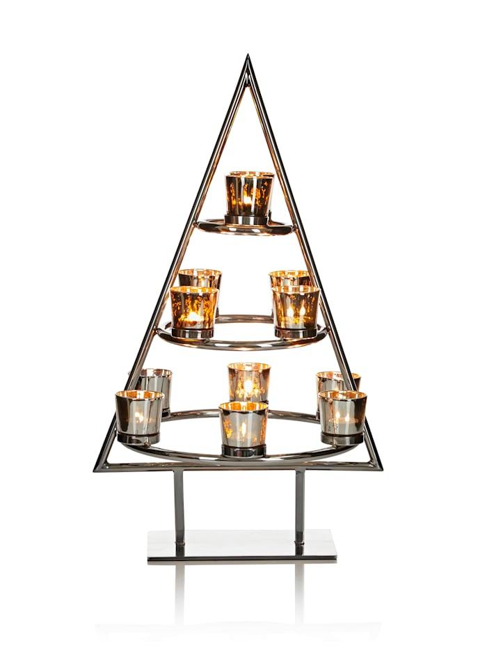 IMPRESSIONEN living Teelichtbaum, Silberfarben