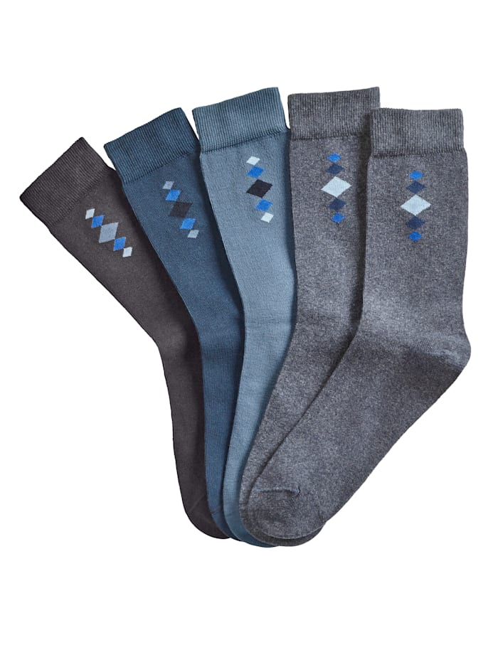 Blue Moon Herrensocken 5er Pack, 5x blau