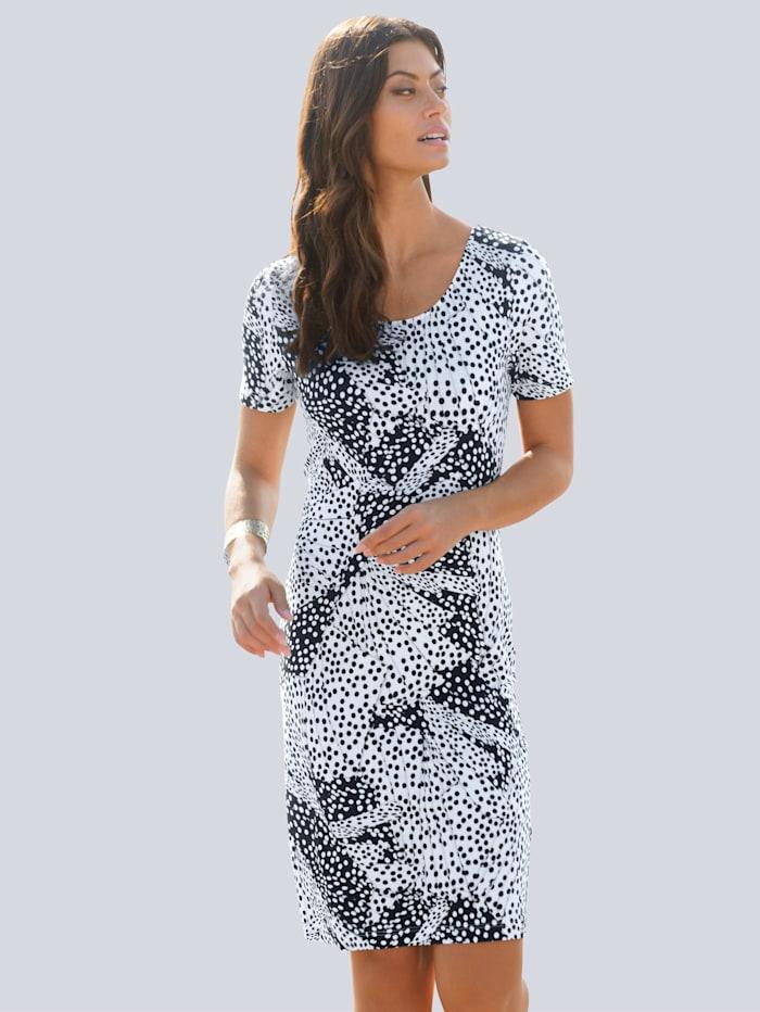 Alba Moda Strandkleid mit Punkten, Weiß