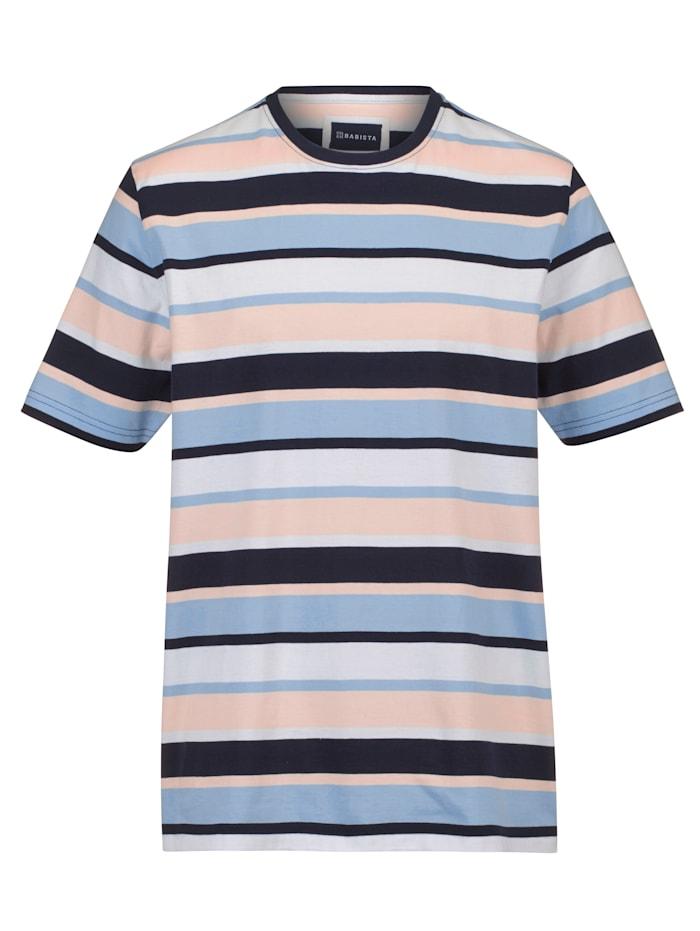 BABISTA T-shirt met ingebreide strepen, Blauw/Roze