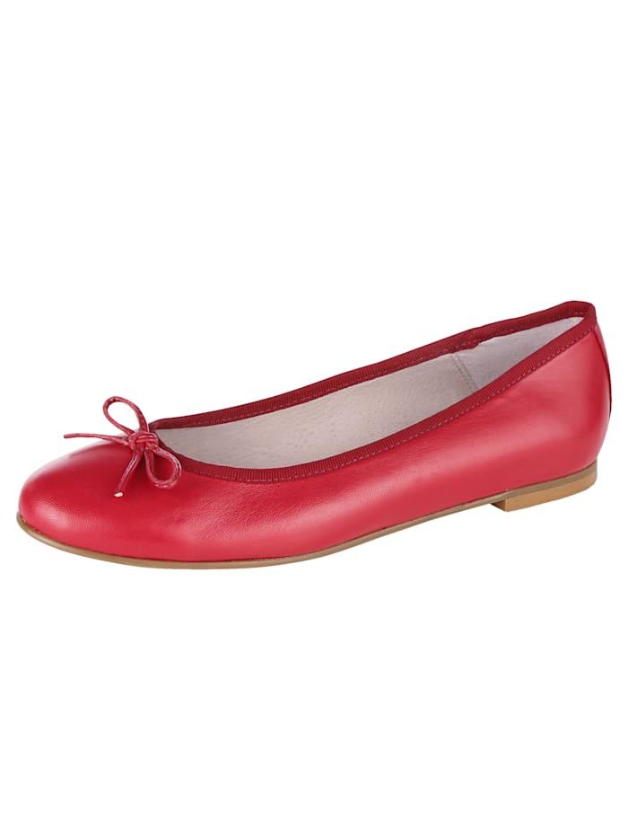 WENZ Ballerina aus weichem Ziegennappaleder, Rot