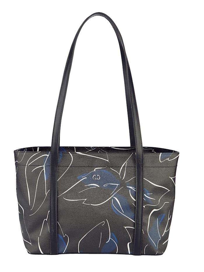 Gerry Weber Handbag with floral pattern, 900 Black