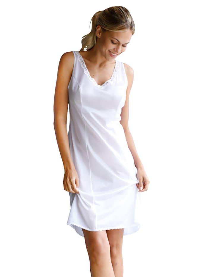 Slip dress in an antistatic fabric
