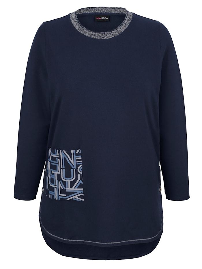 Sweatshirt med pynteknapper