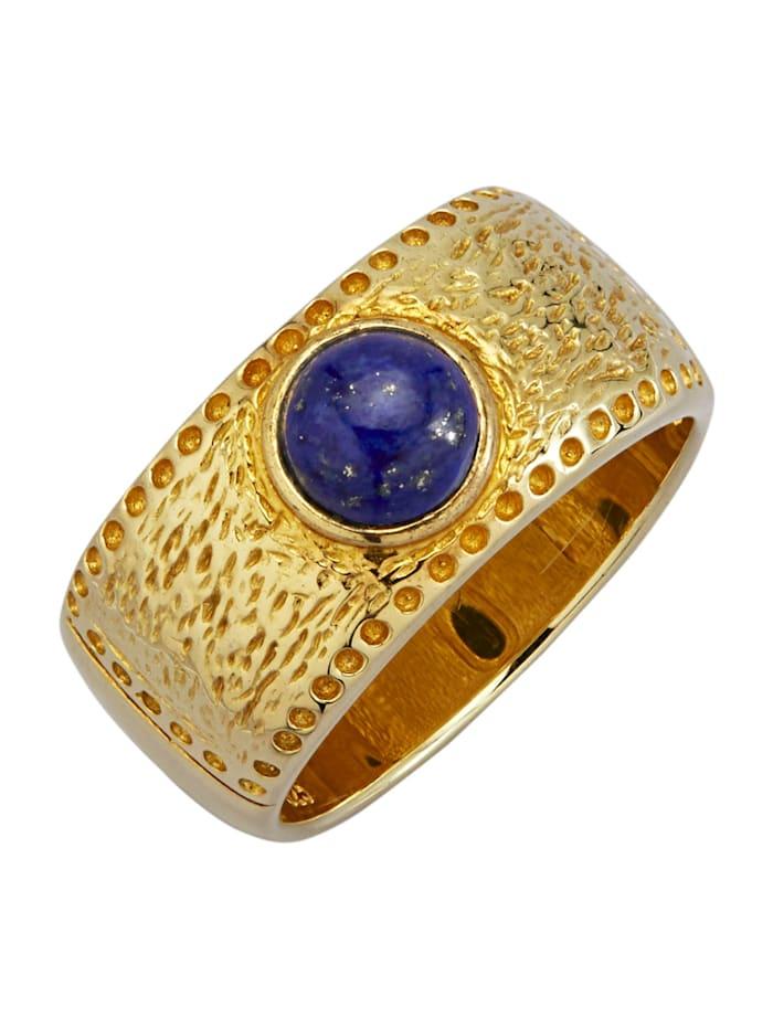 Diemer Farbstein Damenring in Silber 925, Blau