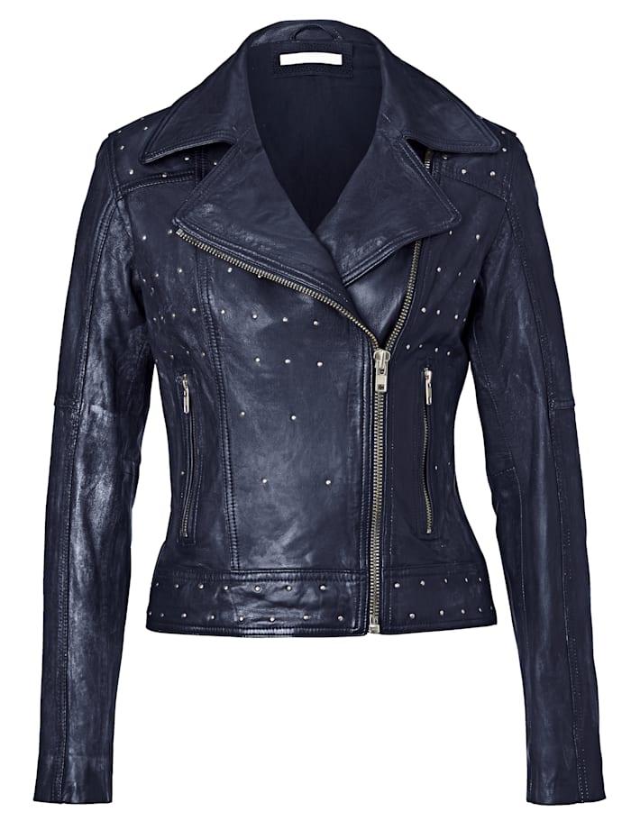 SIENNA Biker-Jacke mit Nieten, Marineblau