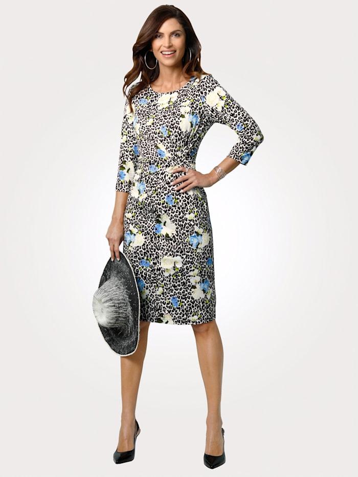 MONA Jersey dress, Black/Blue