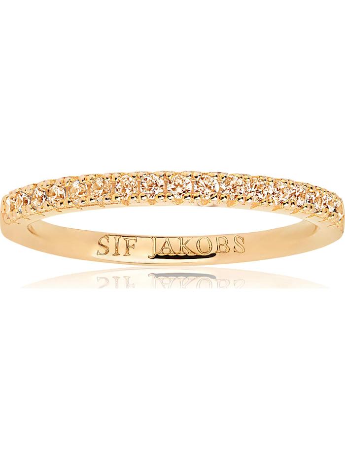 Sif Jakobs Sif Jakobs Jewellery Damen-Damenring 925er Silber Farbstein, gold/gelb