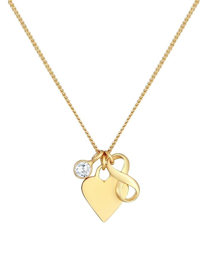 Halskette Herz Infinity Zirkonia Solitär Liebe 925 Silber