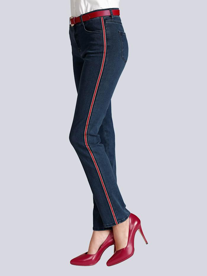 Jeans mit Galonstreifen in der Seitennaht