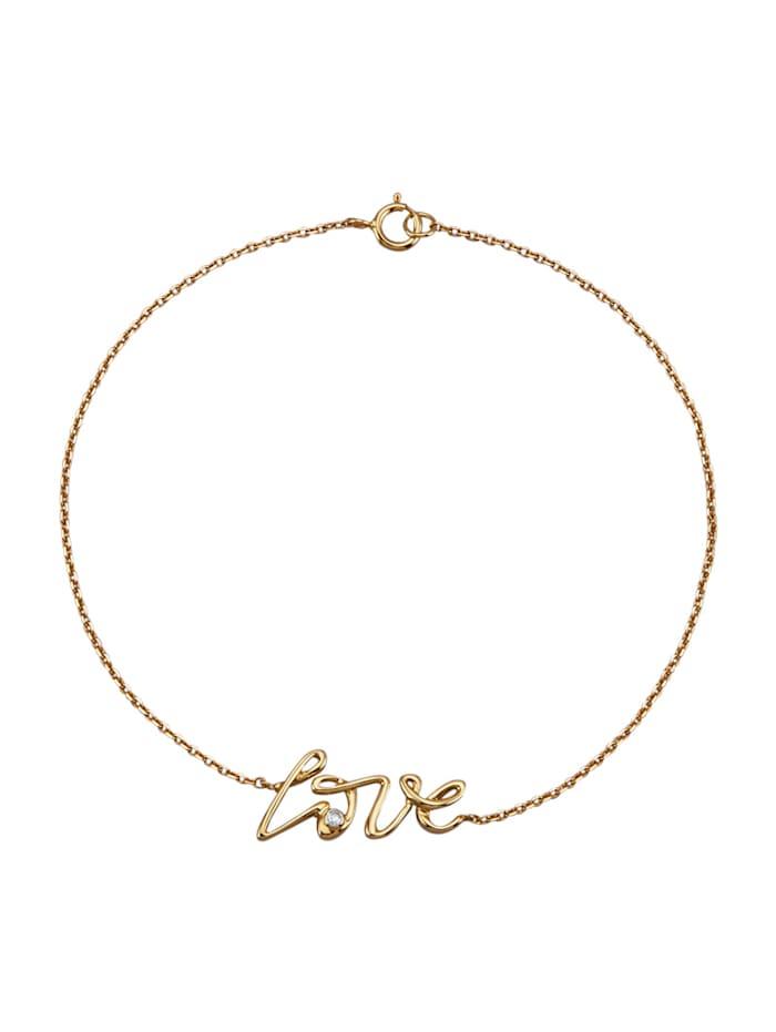 AMY VERMONT Armband mit Diamant, Gelbgoldfarben