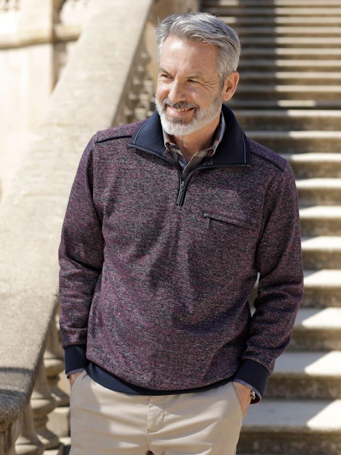 BABISTA Sweatshirt in bicolor, Prune