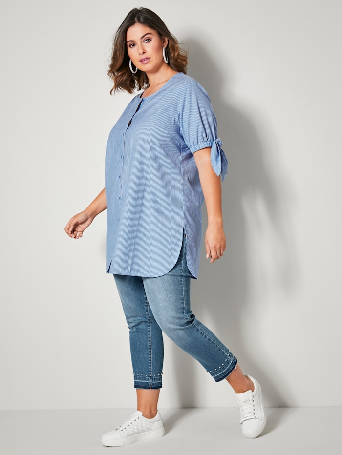 Bluse allover gestreift