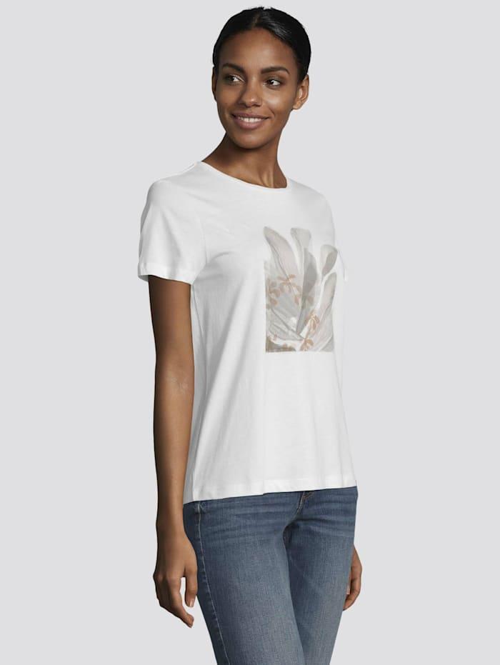 Tom Tailor T-Shirt mit Motivprint, Off White