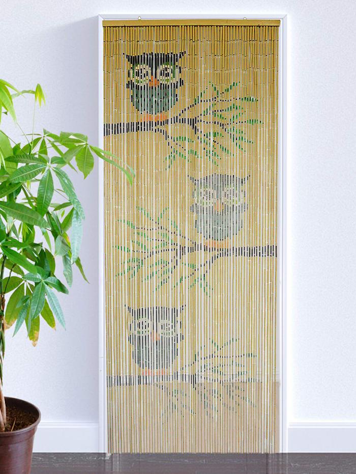 Bamboegordijn Uil, bruin
