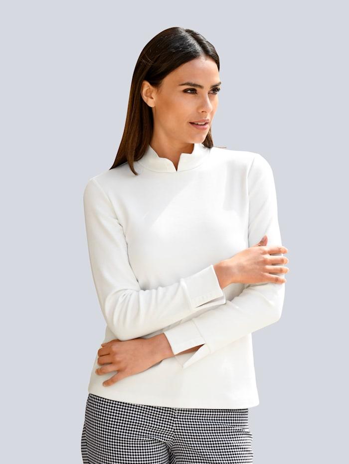 Alba Moda Shirt aus Baumwolle, Weiß