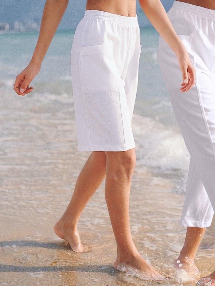 Dress In Bermuda in bequemer Passform, Weiß