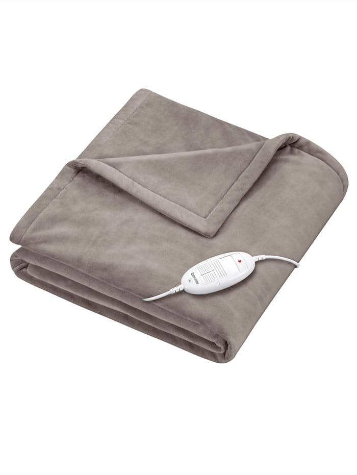 Beurer Couverture chauffante HD75 Cosy Taupe, Taupe