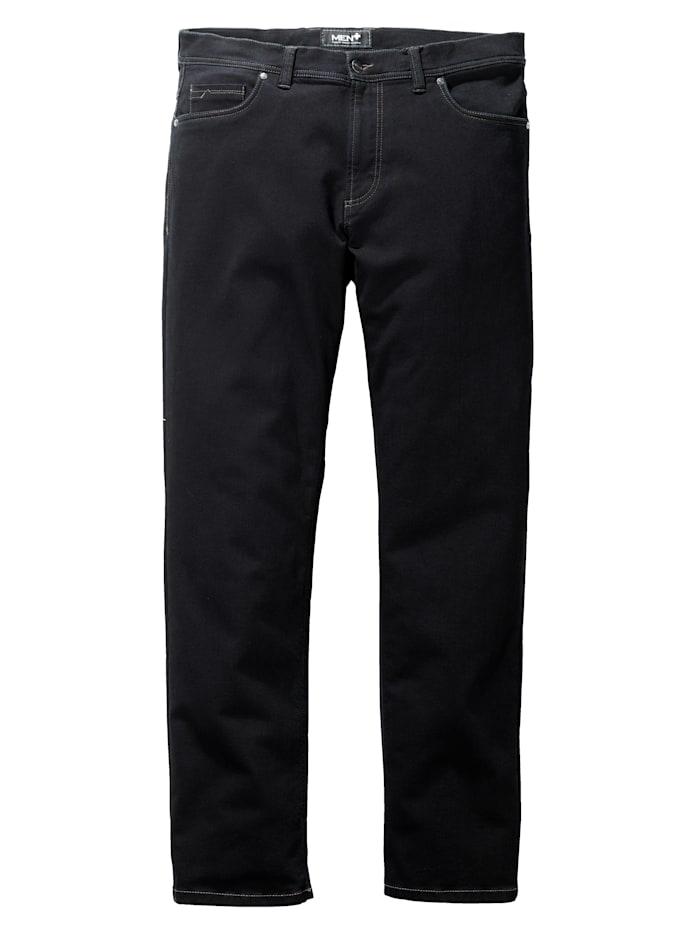 Men Plus Jeans in Straight Fit model, Blauw/Zwart