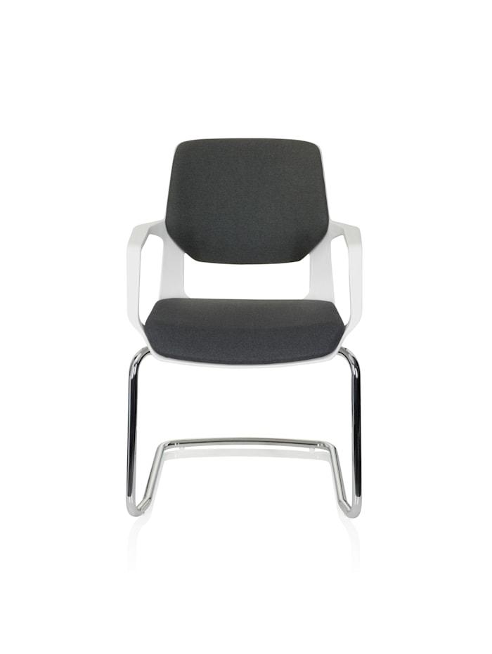 hjh OFFICE Besucherstuhl Konferenzstuhl FREE V WHITE, Schwarz