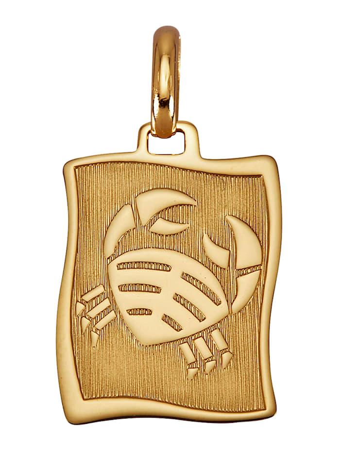 Diemer Gold Sternzeichen-Anhänger 'Krebs' in Gelbgold 585, Gelbgoldfarben