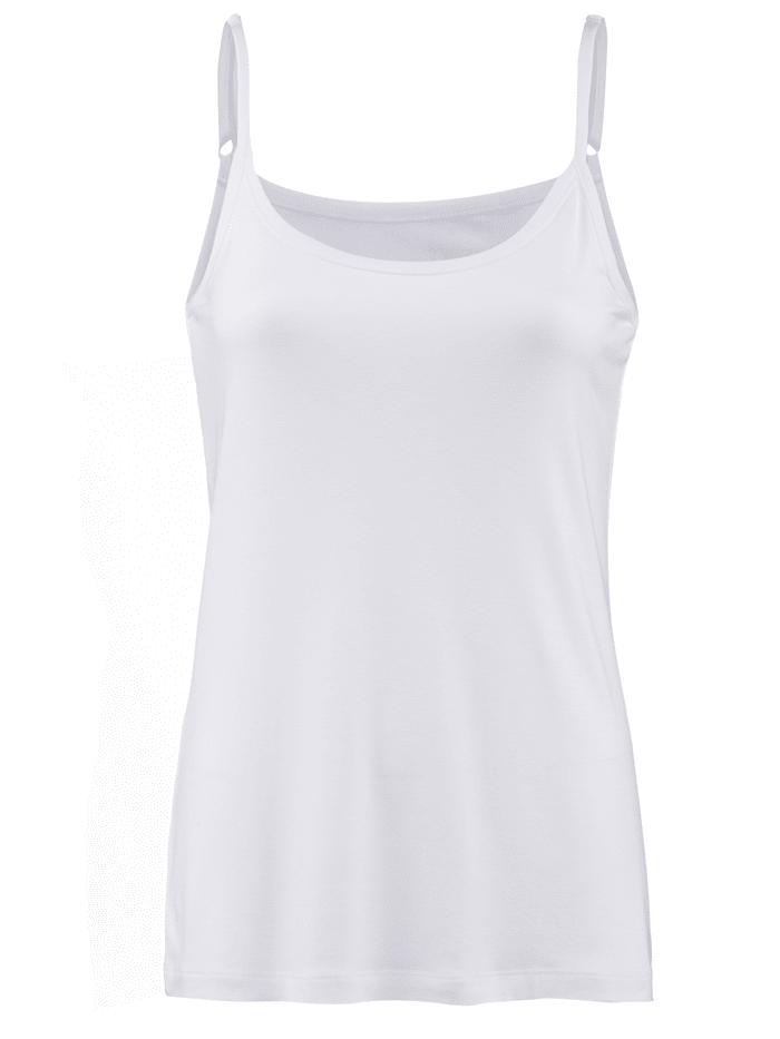 Alba Moda Top s nastaviteľnými špagetovými ramienkami, Biela