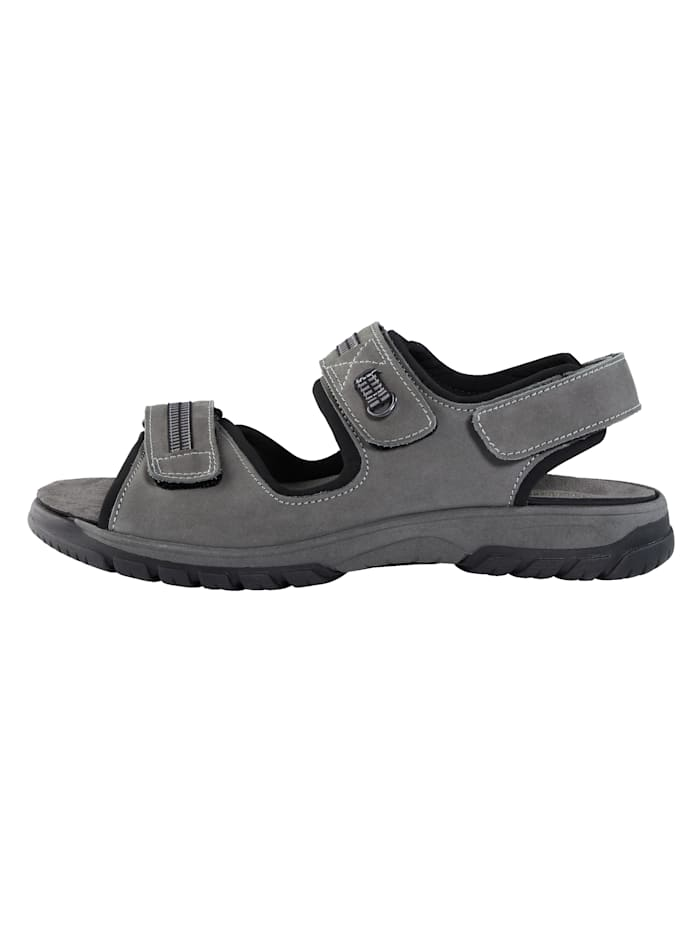 Sandales en cuir nubuck avec bandes fantaisie
